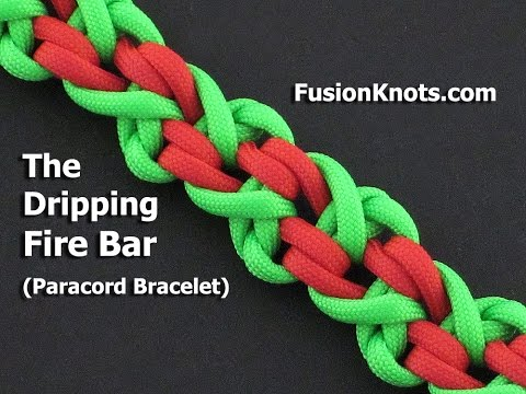 How to Make the Dripping Fire Bar, Paracord Bracelet by TIAT