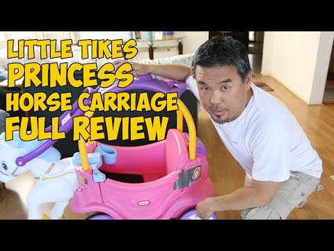 Little Tikes Princess Horse Carriage Full Review (VLOG#97)