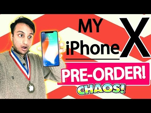 MY iPHONE X PRE-ORDER Chaos - What I Got? (Pre-ordering iPhone X!) + iPhone X WALLPAPERS Download