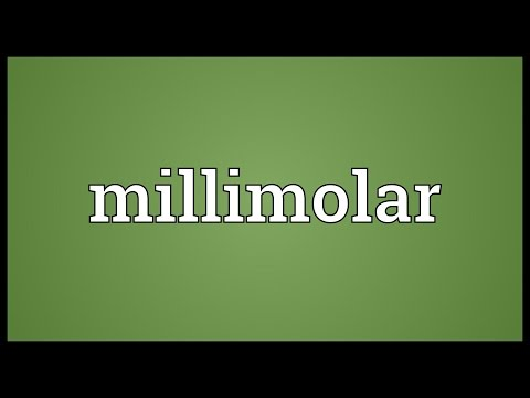 Millimolar Meaning