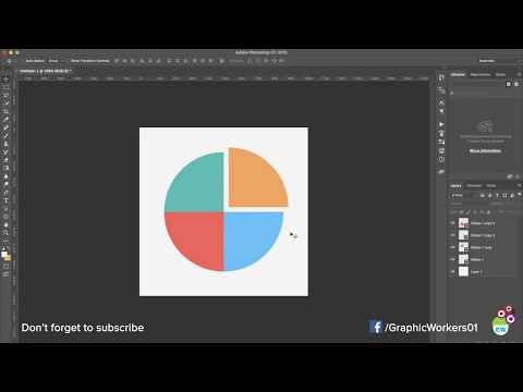 How to design Pie Charts in Photoshop | Fast and Easy | HD