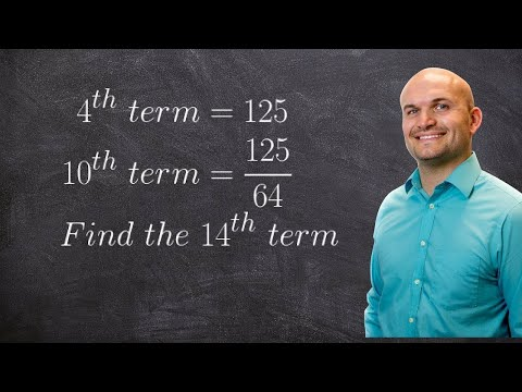 Given two terms find the nth term of a geometric sequence
