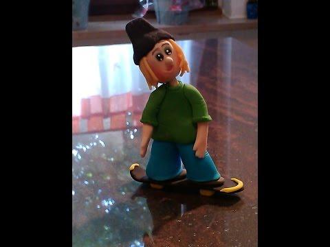 Fondant Skater modellieren / Fondant Cake Decorating - Making a Skater / Tutorial /HD