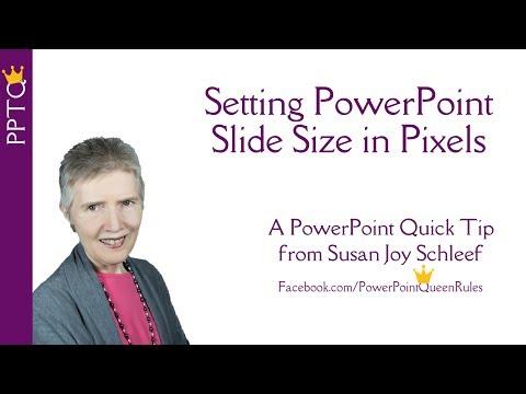Set PowerPoint Slide Size in Pixels