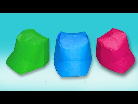 How to make Paper Hat / Paper Cap With Color Paper - DIY Origami Folds Tutorial Step By Step