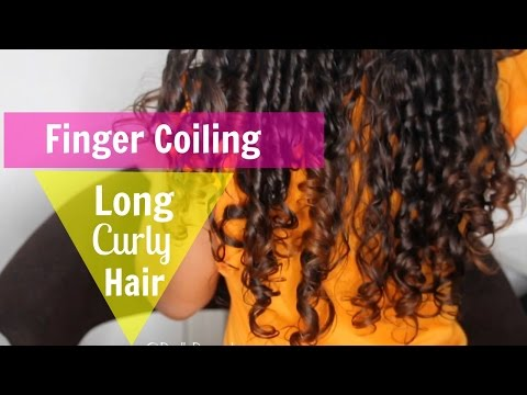 FINGER COIL METHOD ON LONG CURLY HAIR USING SHEA MOISTURE PRODUCTS!