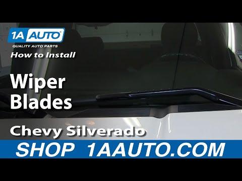 How To Install Replace Wiper Blades 2007-13 Chevy Silverado GMC Sierra