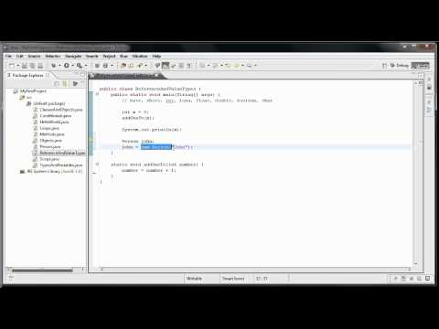 Java Programming: 10 - Reference and Value types