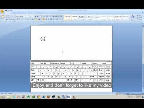 How to write Copyright Symbol In Microsoft Word