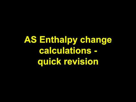 Quick Revision - AS Enthalpy Changes