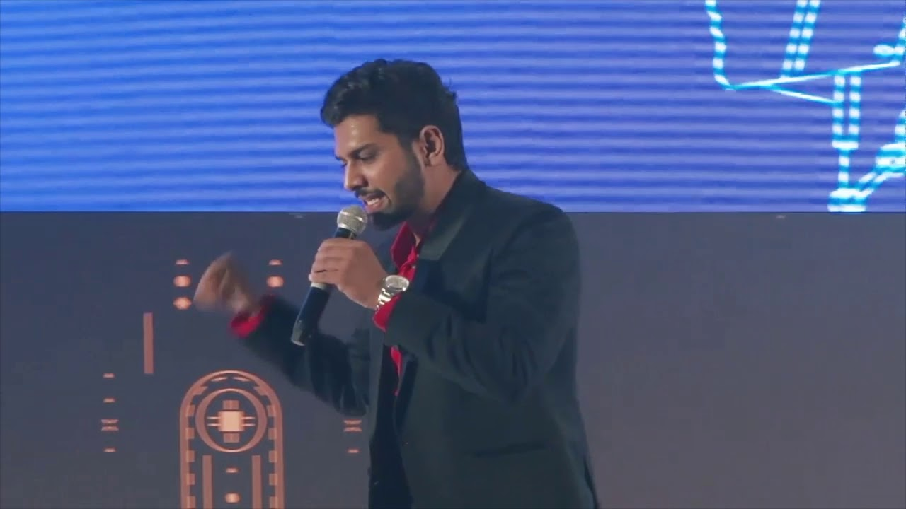 MC Anuj Char hosting a corporate annual day with awards and entertainent!