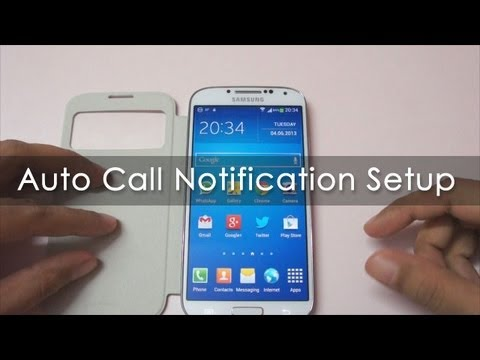 Smart Tip: Call Notification Alert On Samsung Android Phones