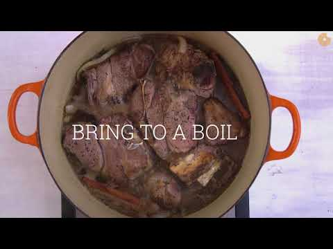 How to Make Lamb Stew with Pomegranate