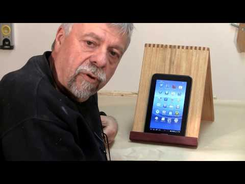 Making a Tablet or iPad Stand - A woodworkweb.com woodworking video