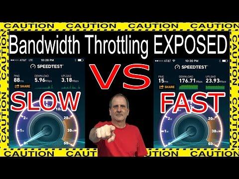 Internet Provider Bandwidth Throttling EXPOSED!