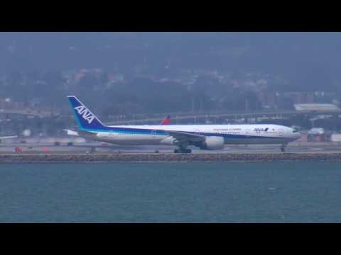 ANA Inspiration of Japan Boeing 777 Departing SFO with ATC