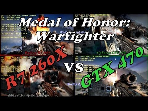 MoH: Warfighter | R7 260X vs. GTX 470 | Split-screen Comparison