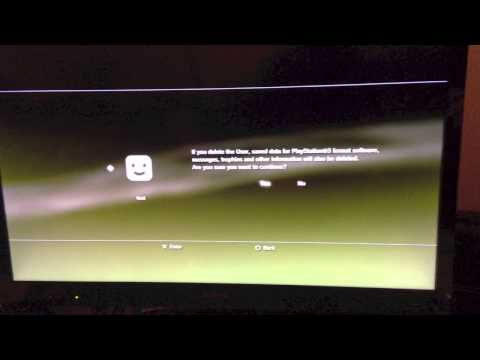 Delete PS3 Playstation3 user profile - Easy to follow