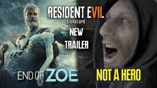 Resident Evil 7 Not A Hero & End Of Zoe Trailer 4K | NEW RE7 DLC Scenes
