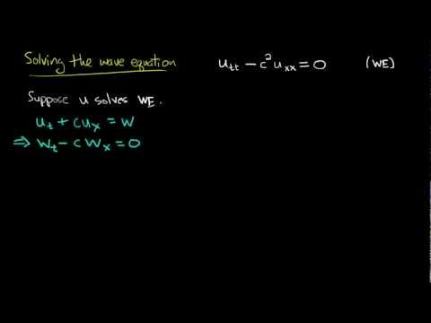 PDE 9 | Wave equation: general solution