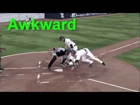 MLB 12 The Show Stealing Home Base Awkwardly