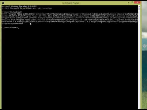 Windows 8 Environment Variables and Command Prompt
