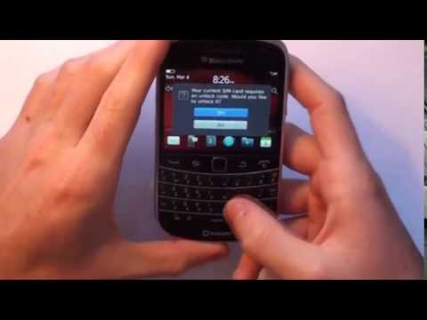 How to Unlock BlackBerry Bold 9780