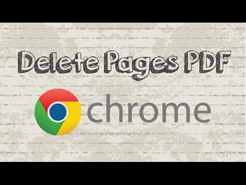 How to delete PDF pages in Google Chrome