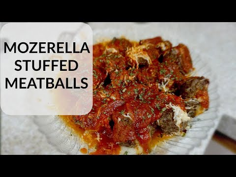 DELICIOUS CHEESE STUFFED MEATBALLS | COOKING WITH JESSICA AND AHMAD