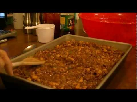 Debbie's Baked Beans with a Twist, Ground Beef instead of Bacon!
