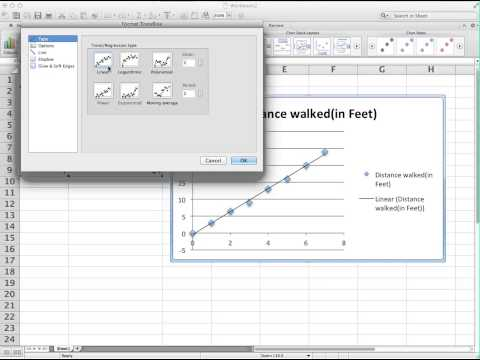 Scatter Plot and Regression Line Excel