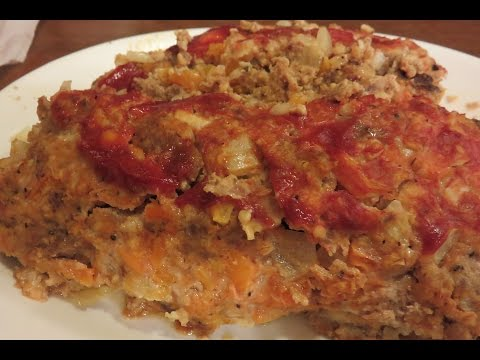 Recipe for a Healthy, Low Carb, Meatloaf Using Ground Turkey & Pork.  Definitely a Diabetic Dish!
