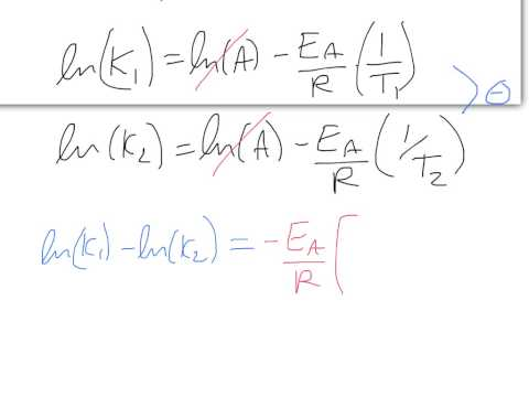 3 / 4 - Lecture 17 - Solving for activation energy with rate constants at two different temperatures