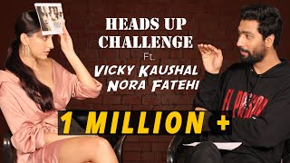 FUNNIEST Heads Up Challenge Ft. Vicky Kaushal & Nora Fatehi | Pachtaoge | BOI