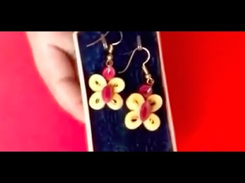 How to make quilling earrings easily at home l paper quilling butterfly earrings l DIY l earrings
