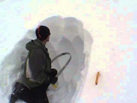 How to build a snow cave *fast* with the Cave Carver from SnowSaw.com