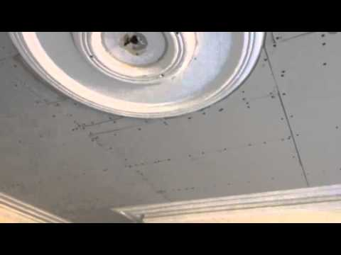 How to plasterboard a ceiling with a plaster ceiling rose i