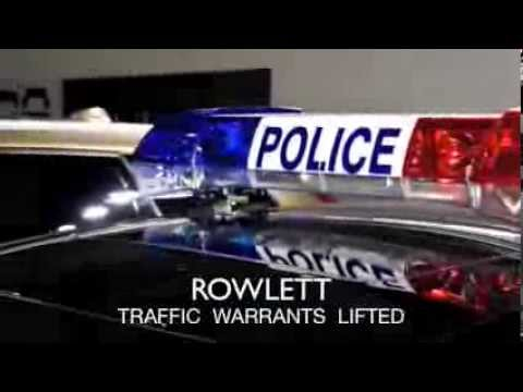 Rowlett Warrant Roundup Attorneys | Bonds Posted Quick