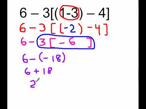 order of operations with negative numbers,  substitution