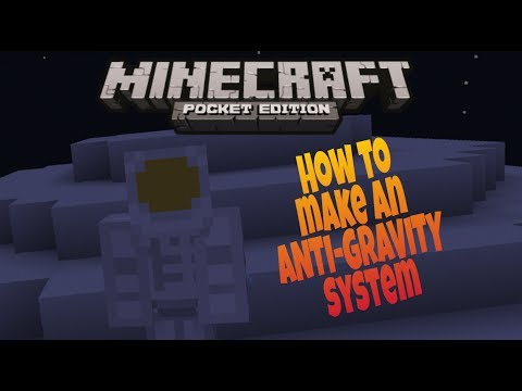 How to make an Anti-Gravity system in Minecraft PE