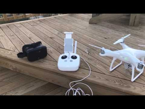 DJI phantom 4 cheap VR headset with litchi app