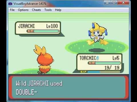 Pokemon Emerald-how to get Jirachi 100lv (code)