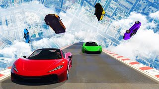 CRAZY 90 DEGREE VERTICAL CHALLENGE! - GTA 5 Funny Moments