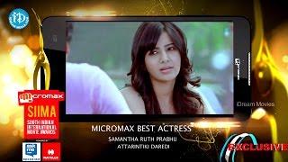 SIIMA 2014 Best Actress in Telugu || Samntha || Attarintiki Daredi