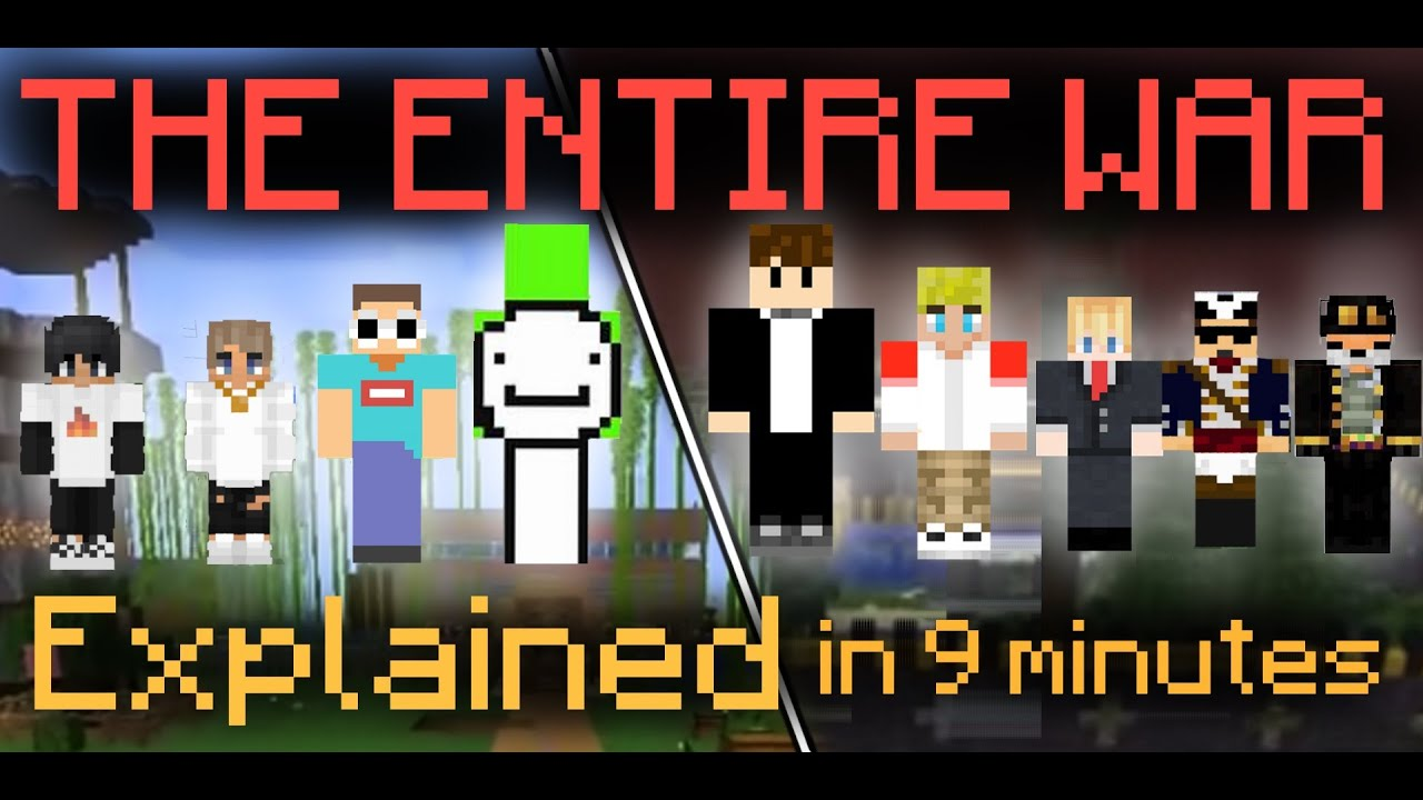The War of Dream SMP...IN 9 MINUTES.