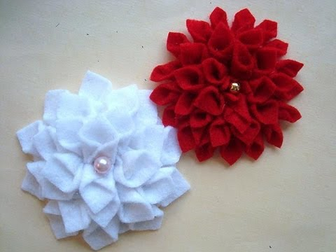 FELT FLOWER #7 CHRYSANTHEMUM, by carlitto.