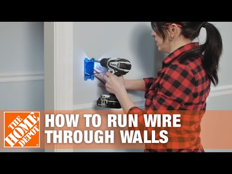 How to Run/Fish Electrical Wire Through Walls & Ceilings