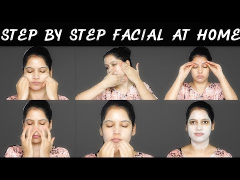 How to do facial at home Step by step in Hindi for instant glow ||TipsToTop By Shalini