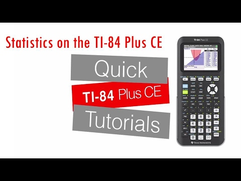 Basic Statistics on the TI-84 Plus CE: Getting Started Series