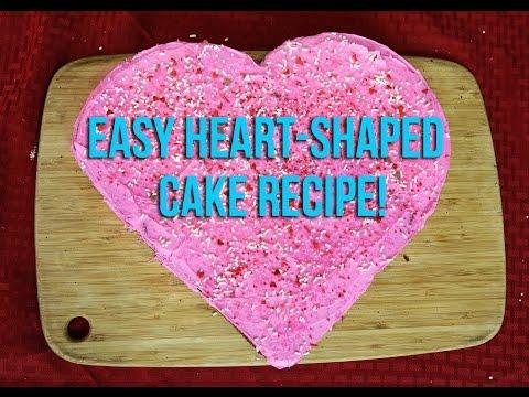 Easy Heart Shaped Cake Recipe!